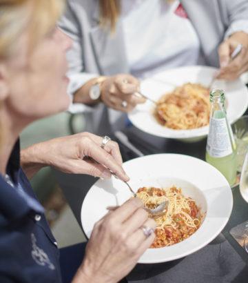 lekkere spaghetti eten